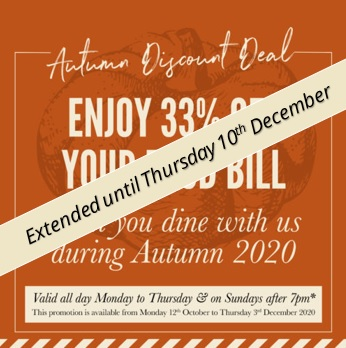 Autumn Discount Deal 2020